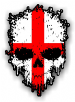 Dripping Skull With England Flag external Vinyl Car Sticker 85x120mm